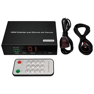 301022-TX - H.264 HDMI Extender over IP Transmitter with LED and Remote - Up to 120M (Transmitter only)