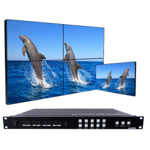 301068 - 4x4 Seamless HDMI Matrix Switch with 2x2 Video Wall Controller