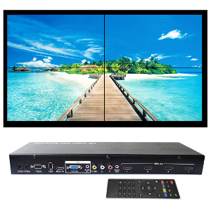 301072 - 4-Port Multi-Format Splitter (HDMI, VGA, USB, and RCA Composite) and 2x2 Video Wall Controller