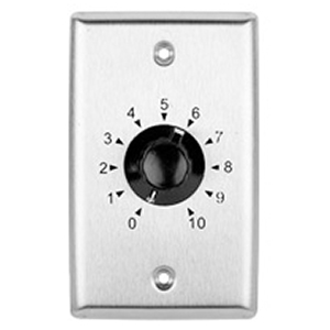 301520SS - 35W 70V Stainless Steel Volume Control Dial Wall Plate