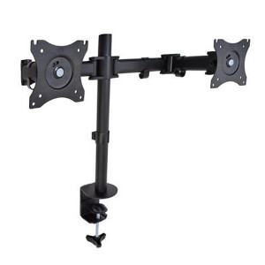 "309002BK - Dual Monitor Desktop Clamp Mount: 13""-27"" Screens"