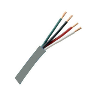 155454GY - Security Wire - 18 AWG/4 Conductor, CL3R, Shielded, Stranded Bare Copper, 1000ft - Grey