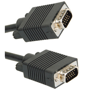 500190/X100BK - SVGA Cable w/Ferrites - Male to Male - 100ft