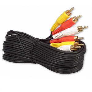 501030/10BK - RCA Coaxial Composite Video and Stereo Audio Cable - Male to Male - 10ft
