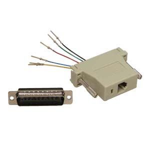 503176 - Modular Port Adapter - DB25 Male to RJ12 Female