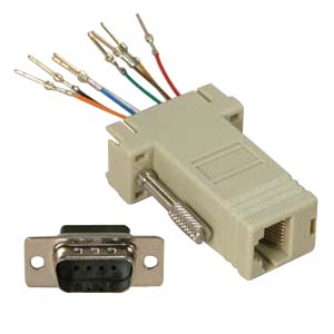 503181 - Modular Port Adapter - DB9 Male to RJ45 Female