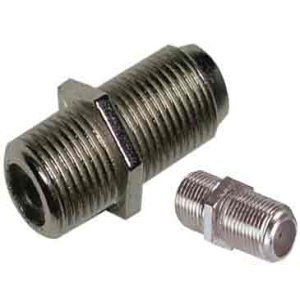 503401 - F Type Coupler - Nickel - Female to Female