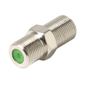 503402 - F Type Coupler - 1GHz - Nickel - Female to Female