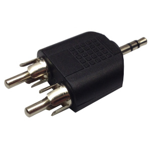 503680 - 3.5mm Stereo Male to (2) RCA Male Splitter