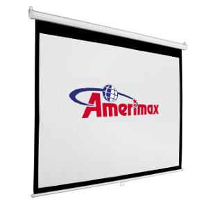 "309353 - 65"" Manual Auto-Lock Pull Down Projection Screen - 16:9 Format"