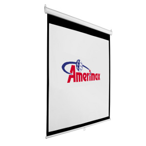 "309363 - 67"" Manual Auto-Lock Pull Down Projection Screen - 1:1 Format"