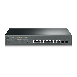 T1500G-10MPS - TP-Link - JetStream 8-Port Gigabit Smart PoE+ Switch with 2 SFP Slots