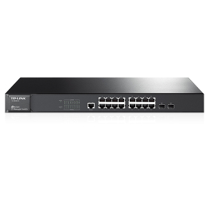 TL-SG3216 - TP-LINK - JetStream 16-Port Gigabit L2 Managed Switch with 2 Combo SFP Slots