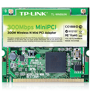TL-WN861N - TP-LINK - 300Mbps Wireless Mini PCI Adapter