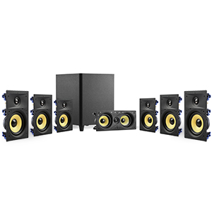 "TDX-W67110KIT - TDX - 7.1 Surround Sound Kit - (Center Channel, 6.5"" In-Wall Speakers, 10"" Subwoofer)"