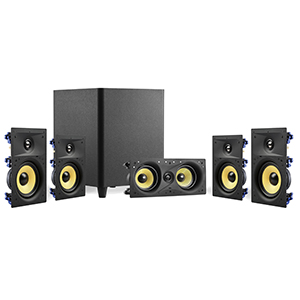 "TDX-W6518KIT - TDX - 5.1 Surround Sound Kit - (Center Channel, 6.5"" In-Wall Speakers, 8"" Subwoofer)"