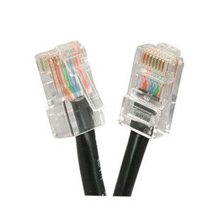 101941BK - CAT5e 350MHz Bootless UTP Ethernet Network RJ45 Patch Cable - Black - 1ft