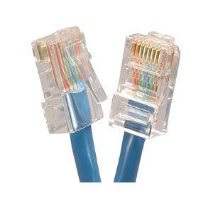 101941BL - CAT5e 350MHz Bootless UTP Ethernet Network RJ45 Patch Cable - Blue - 1ft