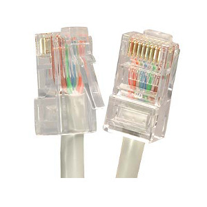101943GY - CAT5e 350MHz Bootless UTP Ethernet Network RJ45 Patch Cable - Grey - 3ft