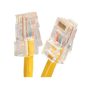101943YL - CAT5e 350MHz Bootless UTP Ethernet Network RJ45 Patch Cable - Yellow - 3ft