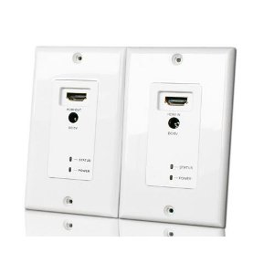 102179wh hdmi wall plate extender over cat5e 6 white. Black Bedroom Furniture Sets. Home Design Ideas